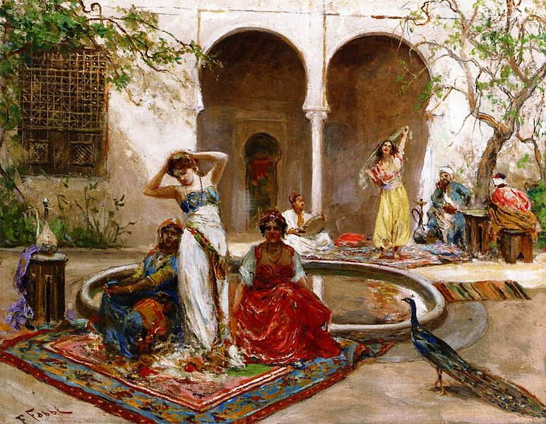 fabio_fabbi_-_dancing_in_the_harem_courtyard-24756213670