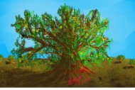 My 64th _« Old tree in solitude positive »