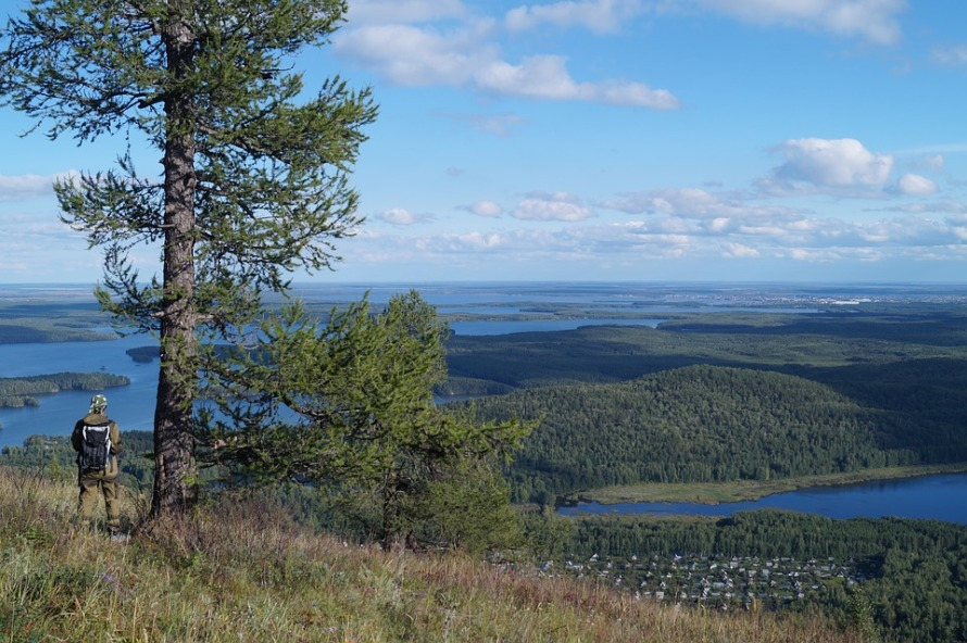 Summer Lake Ural Ural Mountains View Mountains