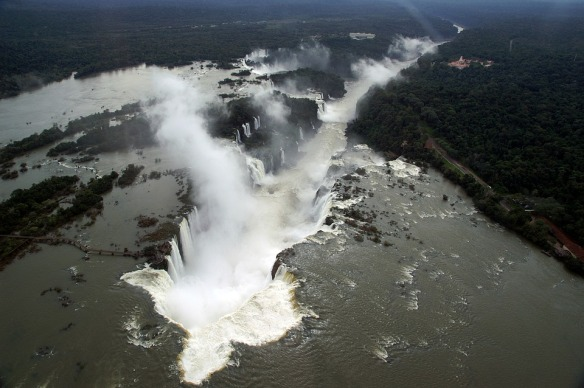 Waterfalls Iguaçu Brazil Aerial View