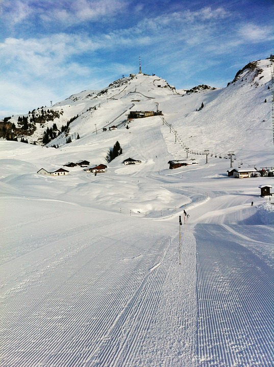 Austria Alps Lane Mountain Ski Snow Kitzbuhel