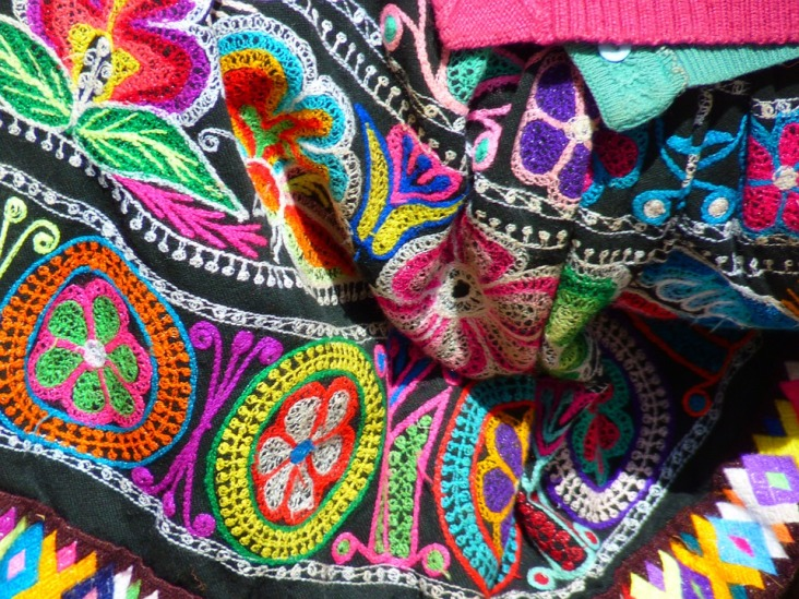 Coloring Clothing Colorful Peru Color Fabric Inca