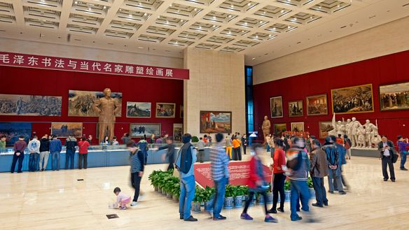 Mao_Zedong_120th_anniversary_art_exhibit_at_National_Museum_of_China