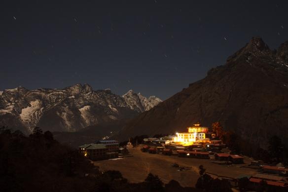 Shingin Tengboche monastery at night