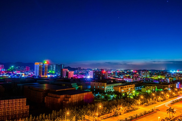Lights Pingshan Shenzhen Twilight Night View Light
