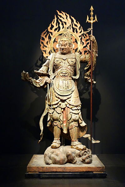Standing_Komoku_Ten_(Virupakusa),_Heian_period,_12th_century,_wood_with_polychromy_and_cut_gold_leaf_-_Tokyo_National_Museum_-_DSC05100