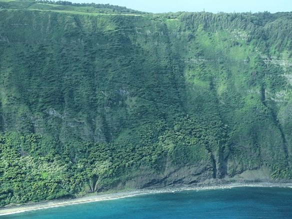 Zig_Zag_Mule_Trail_to_Kalaupapa_on_Molokai_Cliff_Face_James_Brennan_Hawaii_-_panoramio