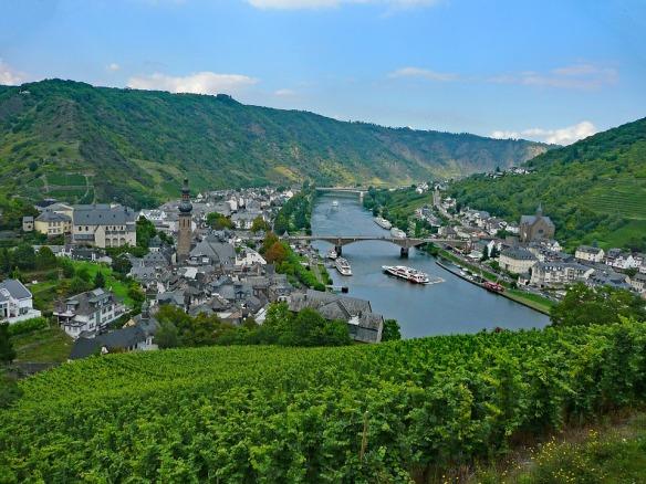 Germany Wine Cochem Mosel Sachsen Vineyards