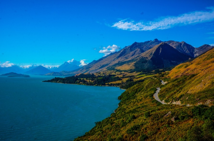 New Zealand Queenstown Million Dollar View Mountains