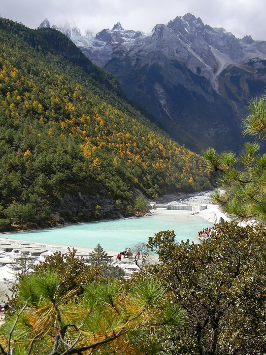 Blue Moon Bay In Yunnan Province China