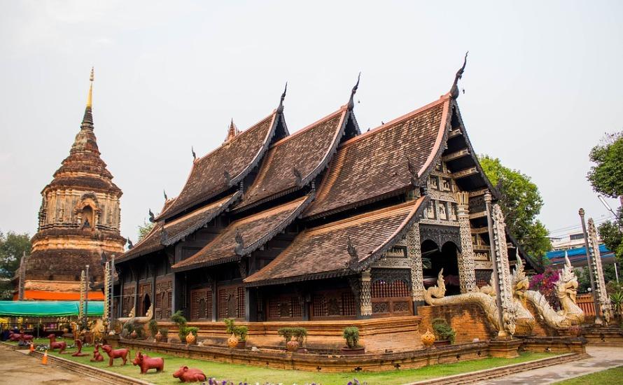 Ancient Chiang Mai Thailand Pagoda Thailand Measure