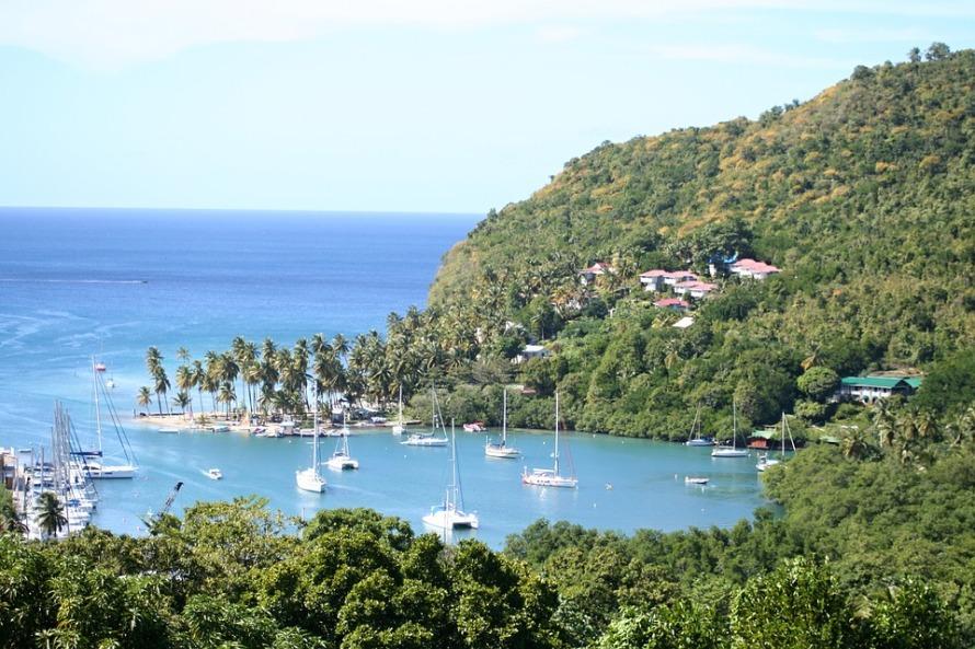 Marigot Bay Caribbean Landscape Island St Lucia