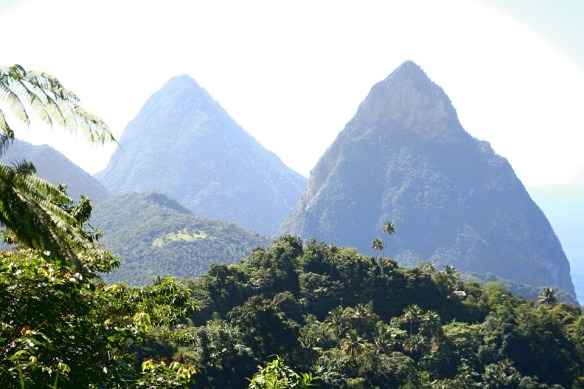 Pitons Caribbean Island St Lucia Twin Pitons