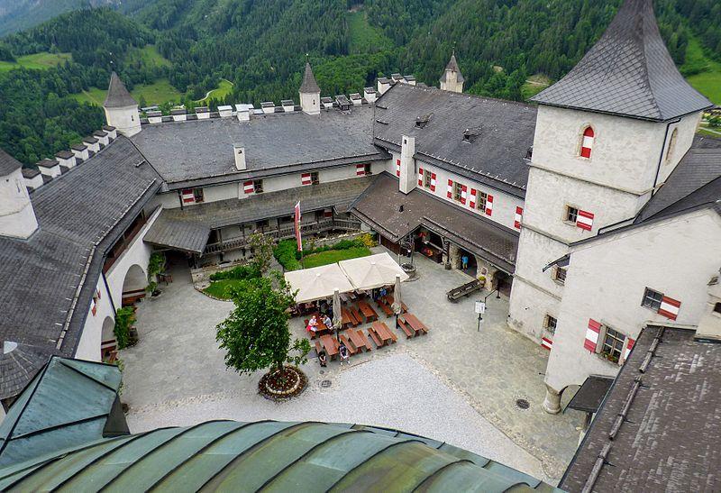 Hohenwerfen_Burghof