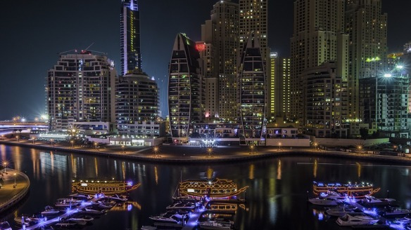 Marina Skyline Uae United Emirates Arab Dubai