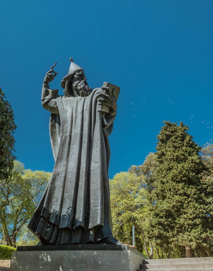Statue of Gregorius of Nin in Split, Croatia