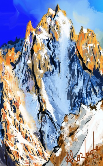The stag mountains_Detail