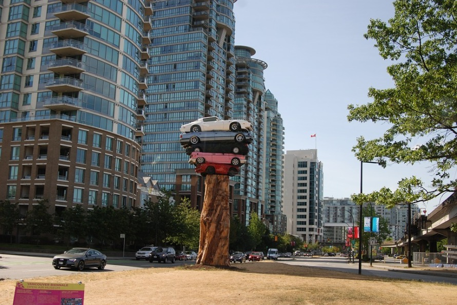 Art Vancouver Statue Car Collection Totem Cars