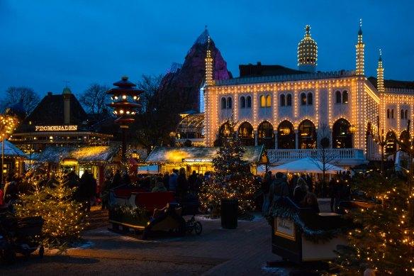 Christmas market at Tivoli