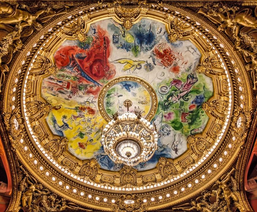 Ceiling of the Palais Garnier, Paris