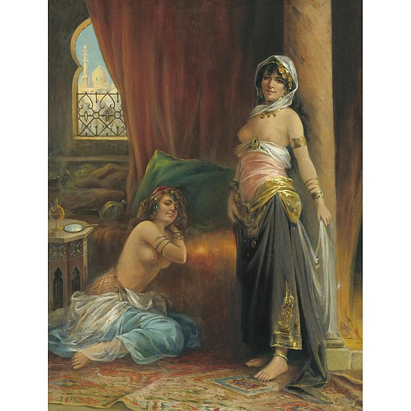 600px-Harem_Beauty_by_Henri_Adrien_Tanoux_1865-1923