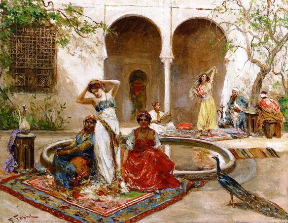 Fabio_Fabbi_-_Dancing_in_the_Harem_Courtyard-24756213670