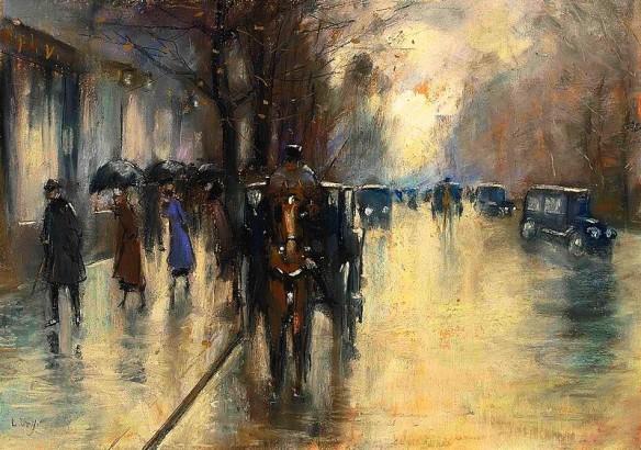 800px-Lesser_Ury_-_Unter_den_Linden_im_Regen_(1920)