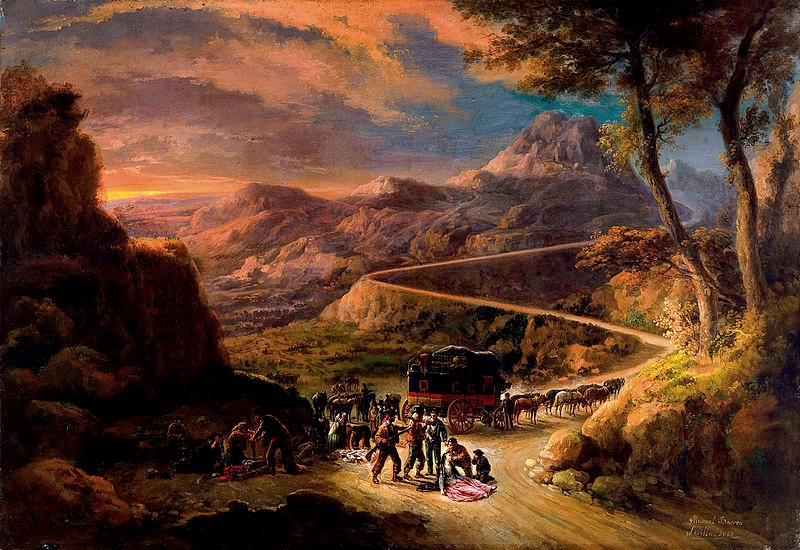 800px-Manuel_Barron_y_Carrillo_View_of_the_Port_of_Miravete_Old_Madrid_Road_1869