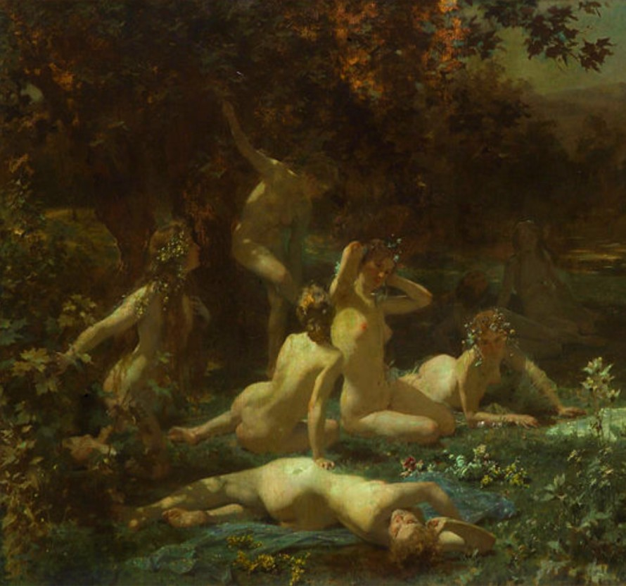 Julius_Schmid_-_Wood_nymphs_in_the_moonlight