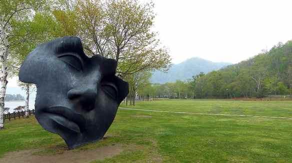 lake-lake-toya-mountain-national-park-japan-hokkaido-sculpture-grass-trees
